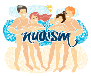 Group Of Illustrated Naturists