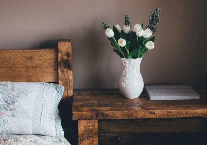 declutter your bedside table