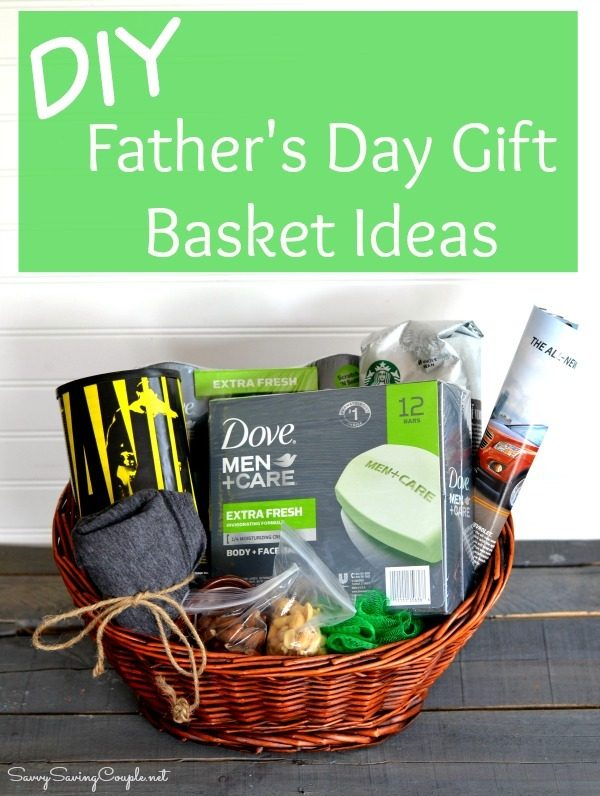DIY Gift Basket with Father's Day Items