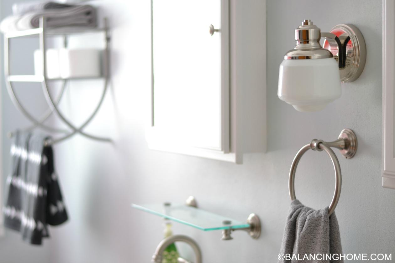 Cleaning Organizing Bathroom With Pedestal Sink Towel Bar