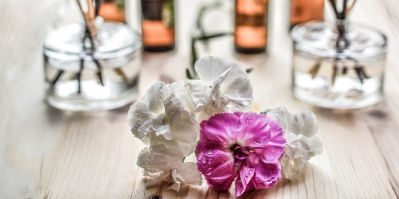 essential oils and flower