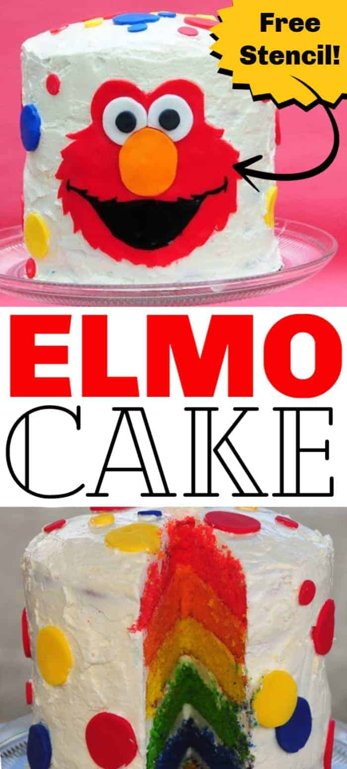 An Elmo Cake is the perfect birthday cake for a preschooler or child who loves this fuzzy red character from Sesame Street. Learn step-by-step instructions how to recreate this cute cake! Plus, get a free stencil.