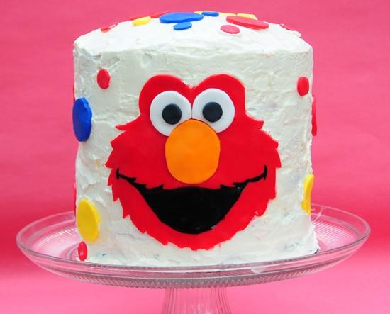 Enjoyable Elmo Cake With A Rainbow Cake Surprise Inside Balancing Motherhood Funny Birthday Cards Online Bapapcheapnameinfo
