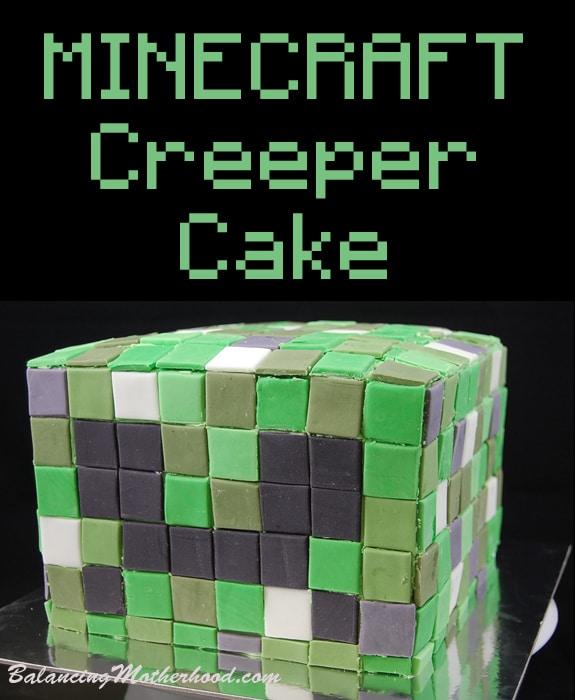 Minecraft Creeper birthday cake