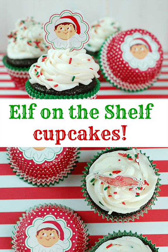 Super cute ELF on the SHELF cupcakes.