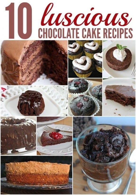 10 chocolate cake recipes via BalancingMotherhood.com