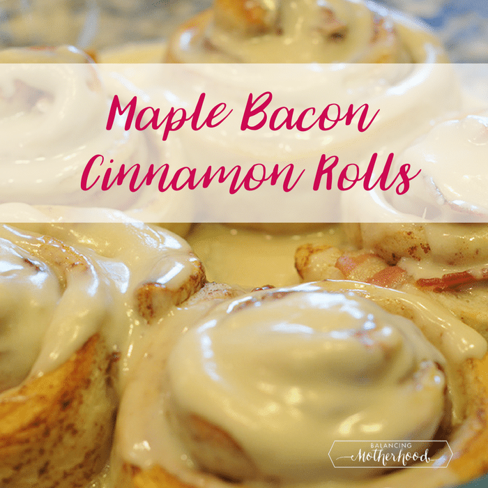 maple bacon cinnamon rolls