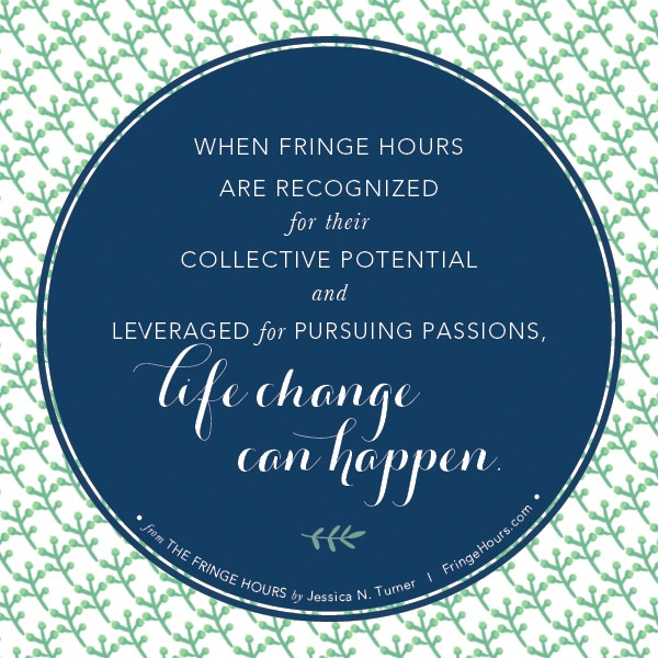 Life change can happen. #fringehours via BalancingMotherhood.com
