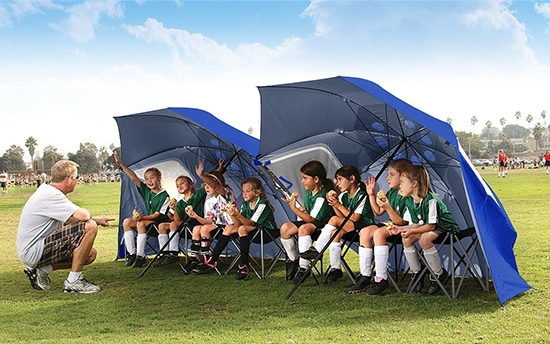 Best Sports Umbrella. Large umbrella for sporting events.