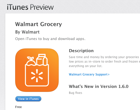 Walmart grocery app review
