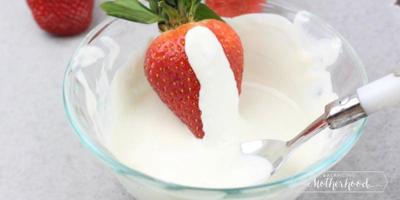 white chocolate covered strawberries