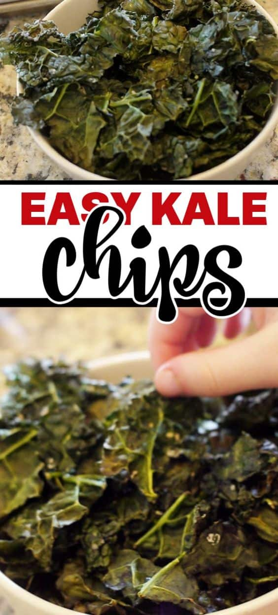 Perfect kale chips every time. This simple and easy recipe make the best kale chips. #kalechips #kalerecipe #kalechipsrecipe #perfectkalechips #healthysnack #keto #whole30 #balancingmotherood