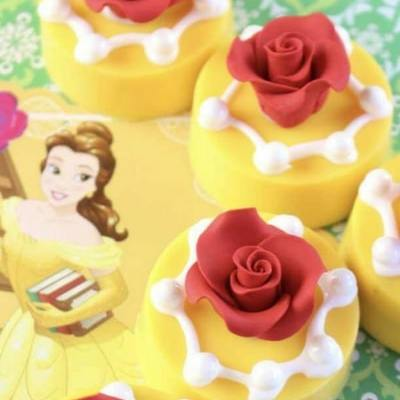 Beauty and the Beast Cupcakes and Cookie Treats