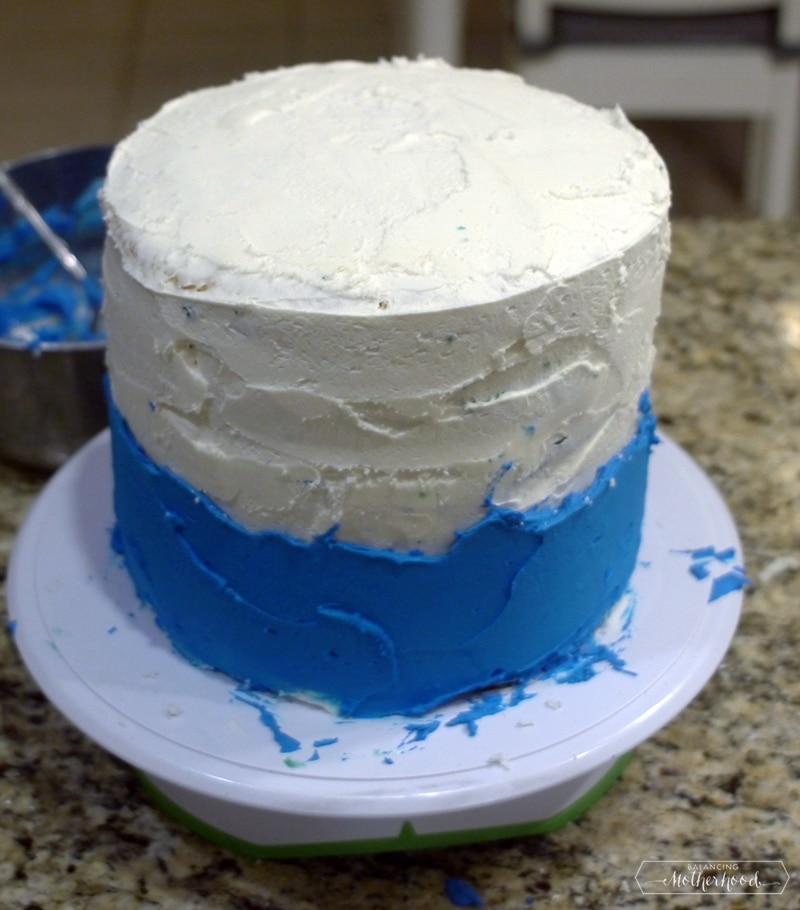 ombre undersea cake