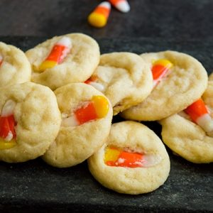 Candy Corn Sugar Cookies Featured Image