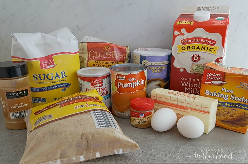 Pumpkin Spice Donuts Ingredients
