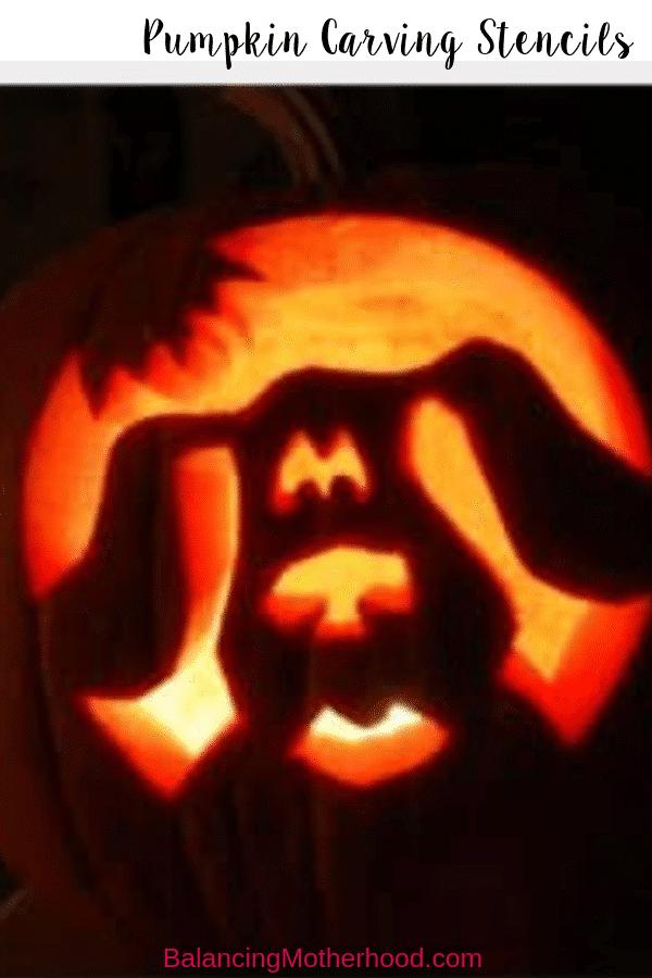 Pumpkin carving stencils for kids! #halloweenstencils #pumpkin #pumpkincarvingideas