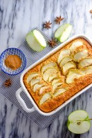 Enjoy this apple breakfast casserole at home!