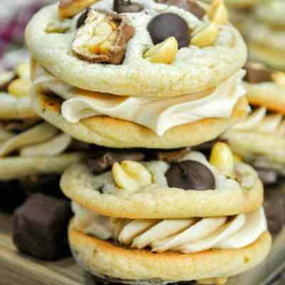 Candy Bar Sandwich Cookie Recipe