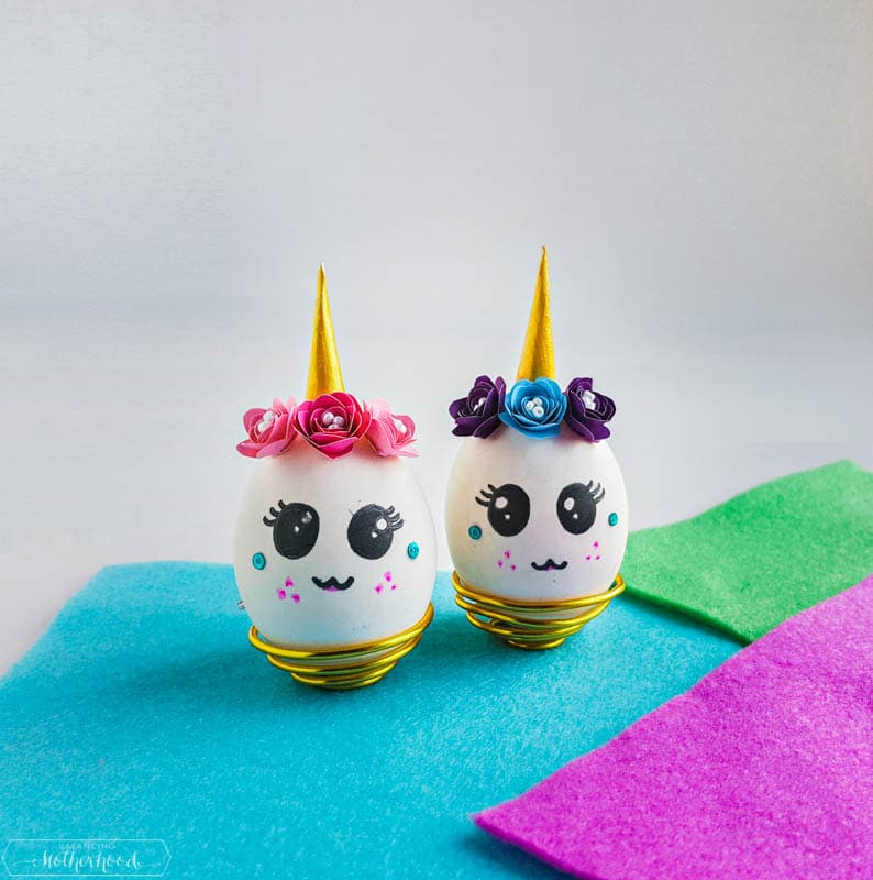 Make your day more magical and fun with these unicorn Easter eggs!