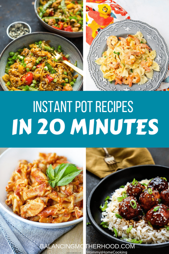 four Instant Pot recipes.