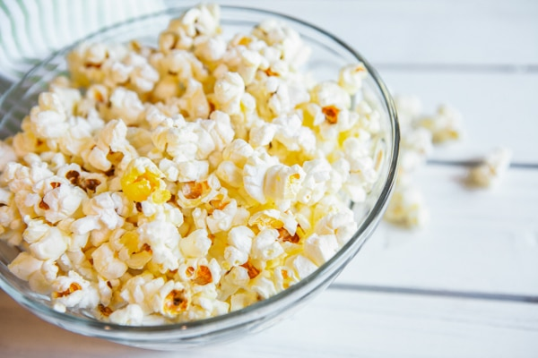 popping popcorn