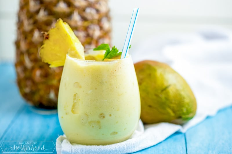 smoothie with pineapple and mango