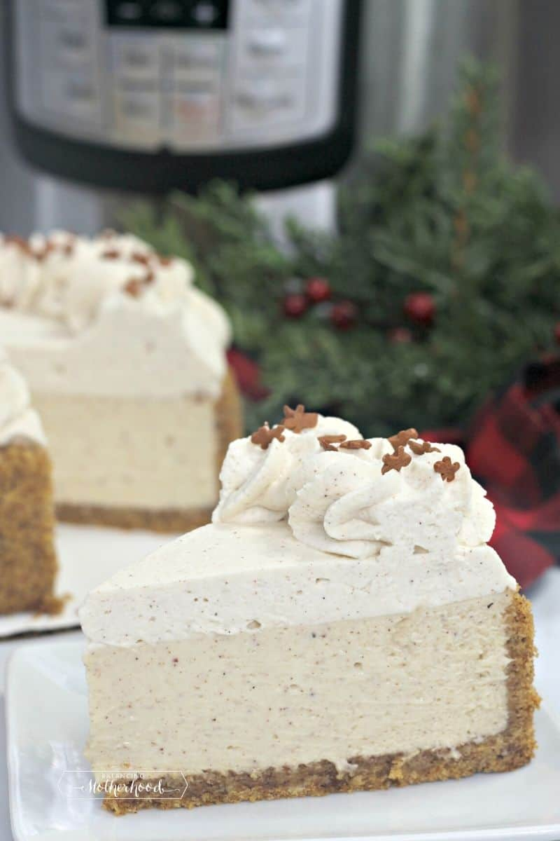 gingerbread cheesecake and instant pot