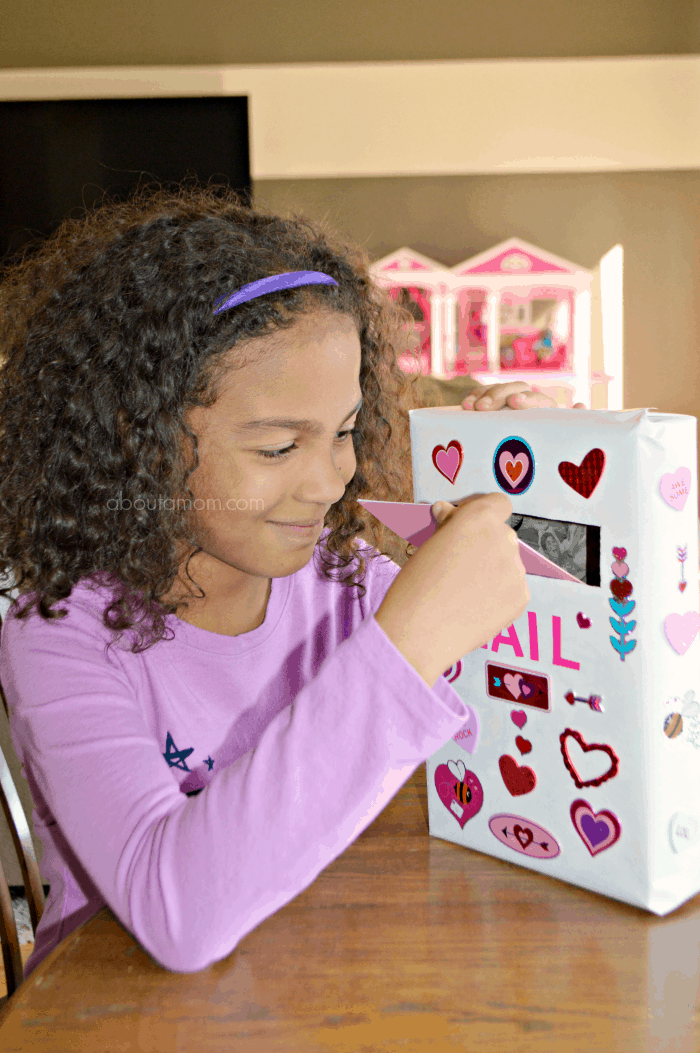 Cereal Box Mailbox for Valentines + Valentine Card Craft
