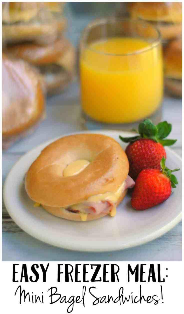 Easy Breakfast Idea: Mini Freezer Bagels