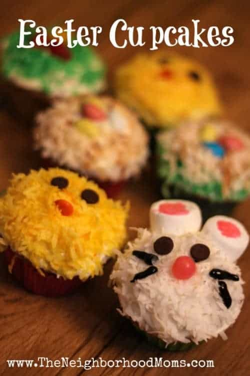 Easter Bunny Chick and Nest Carrot Cake Cupcakes