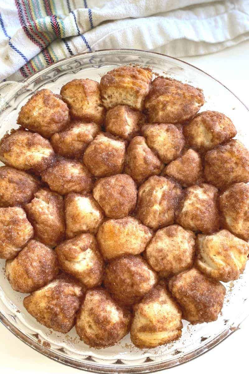 dish of hot chocolate donut holes