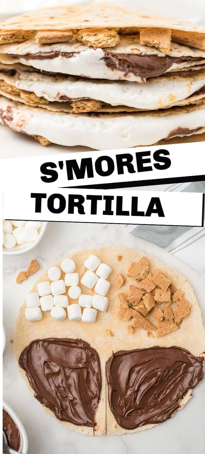 This S'mores Tortilla recipe is a game-changer for how your family will eat s'mores from this day forward.