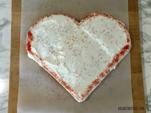 Valentine's Day Heart Cake