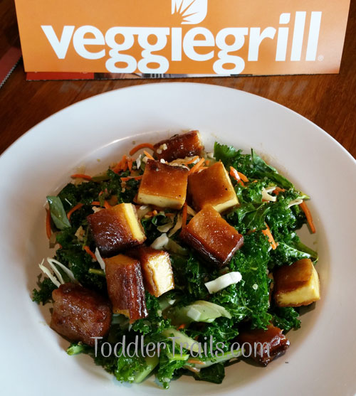 Toddler Trails, Bahn Mi Salad, Veggie Grill, Mindful Living Menu
