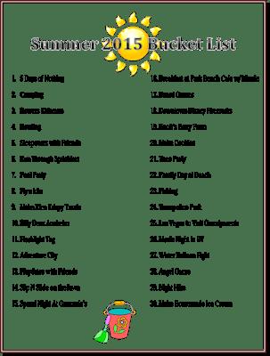 Summer Bucket List For Kids Activity