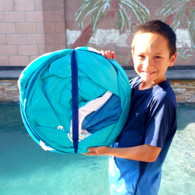 SwimWays Spring Float Stores Easily
