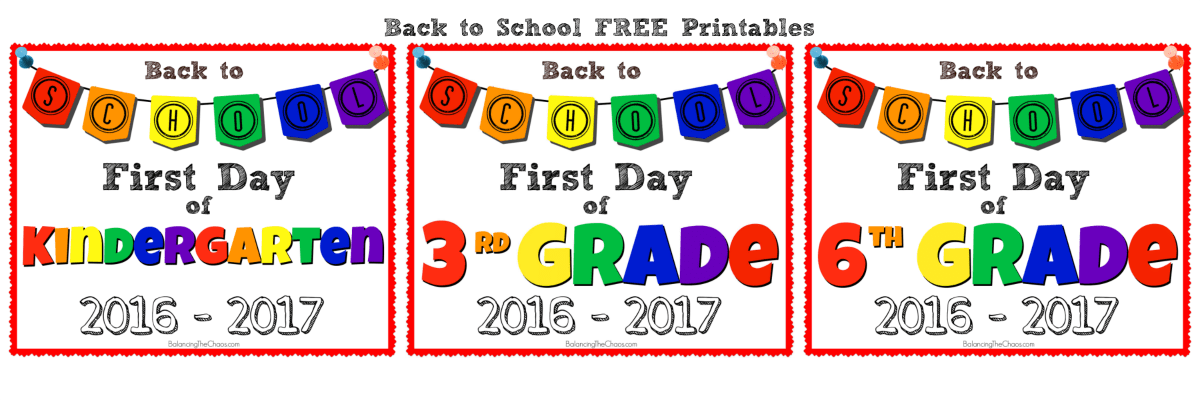 FREE PRINTABLE: Back to School Photo Signs