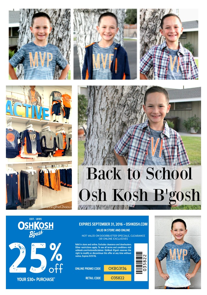 Back to School Collage OshKosh Bgosh