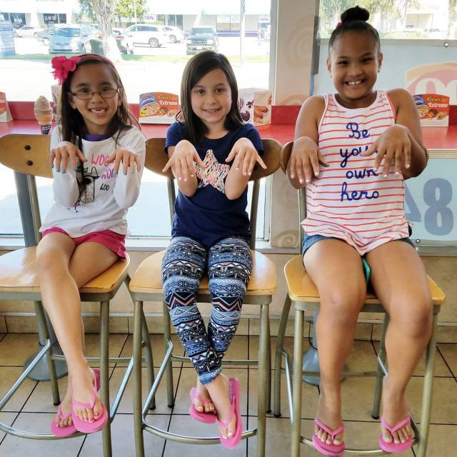 Birthday manipedi with a couple of her dance sisters birthdayhellip