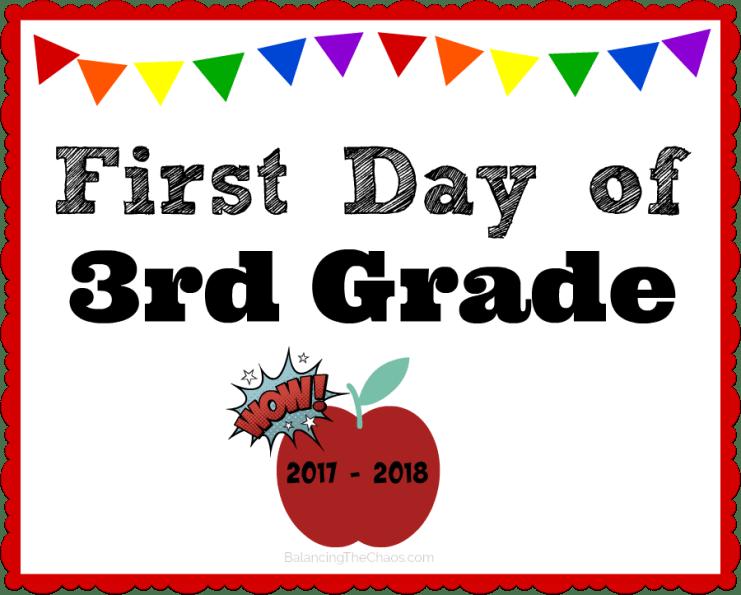 free back to school printable 3rd grade 2017 2018