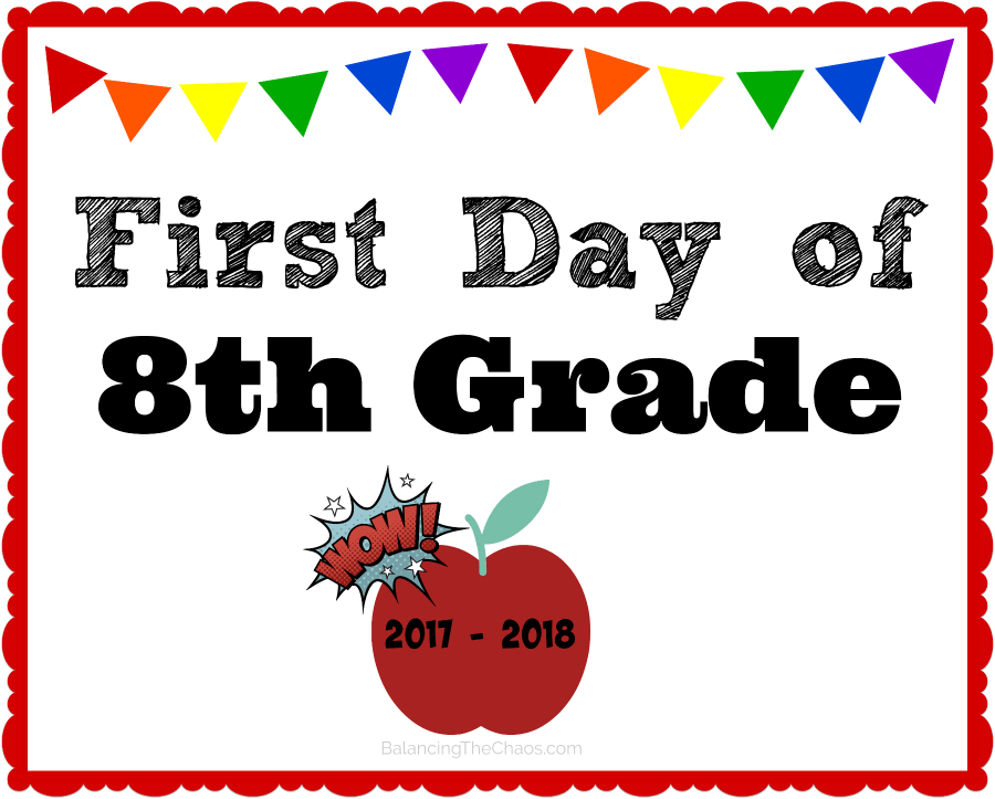 8th grade back to school free printable 2017 2018