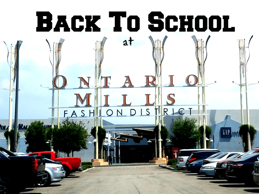 Back to School Shoppin at Ontario Mills Mall