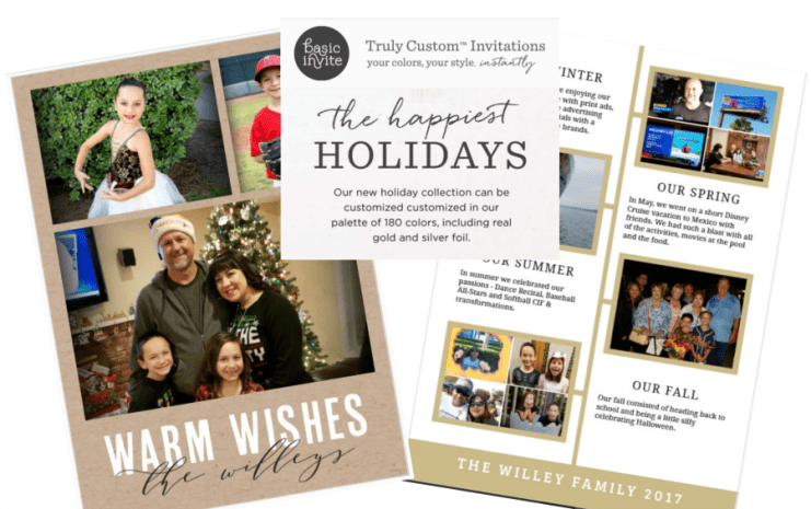 Basic Invite Personalized Holiday Cards Greeting Cards
