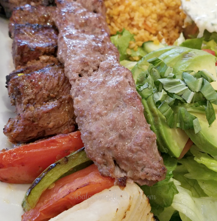 Panini Kabob Grill Steak and Koobideh Special