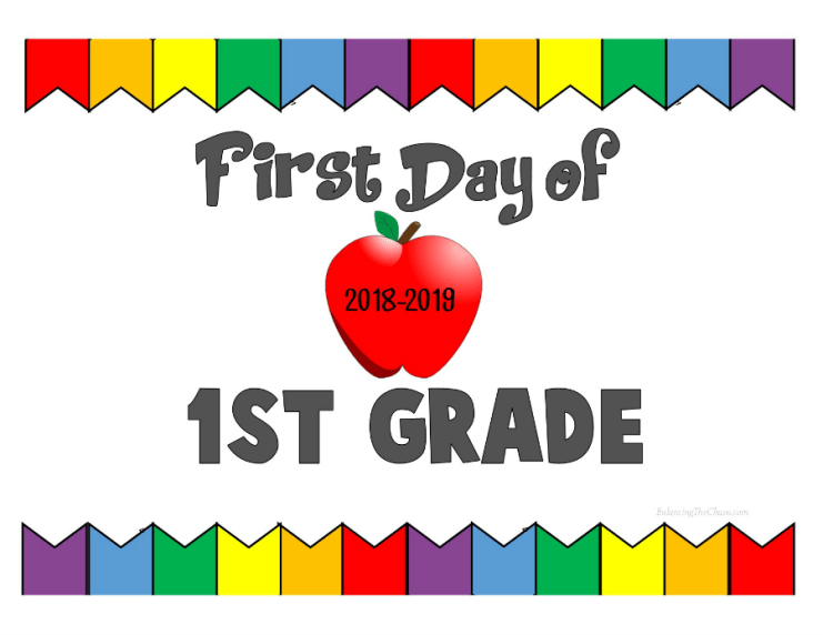 First Day of 1st Grade 2018 2019