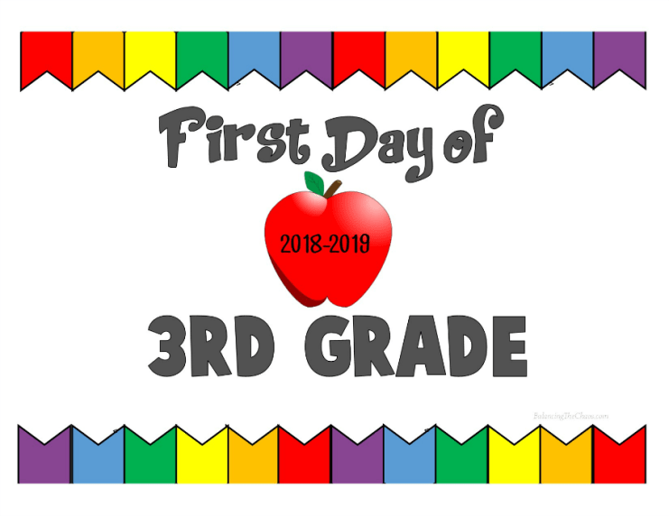First Day of 3rd Grade 2018 2019