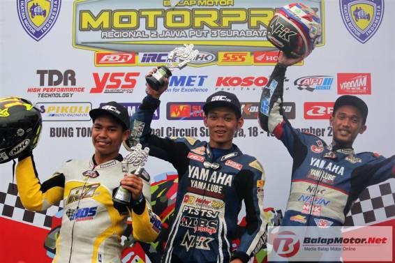Motorprix Surabaya 2017 : Arianto Tarzan Mengejutkan di Race MP1, Rere Kedua, Sulung Ketiga