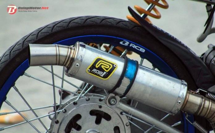 Dragbike Pangkal Pinang 2018: Matic 200 Vidal Speed Shop Pecah Rekor 7.249 Detik, Joki Noka Romano!