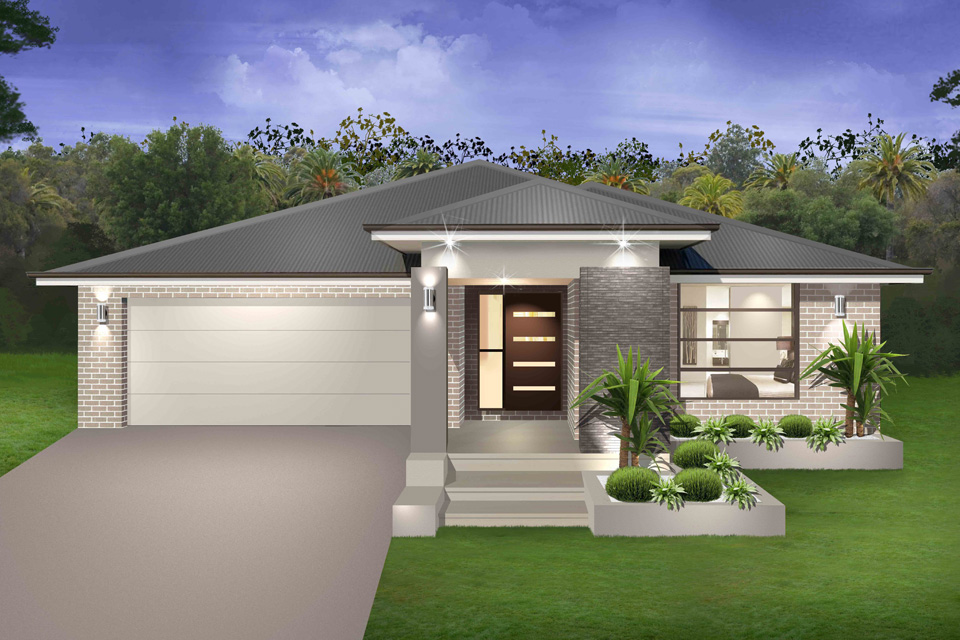 Simple Contemporary One Story House Designs Placement